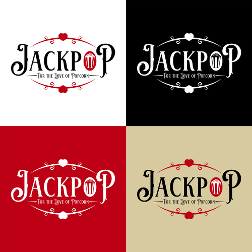 Popcorn logo with the title 'JackPop For The Love of Popcorn'