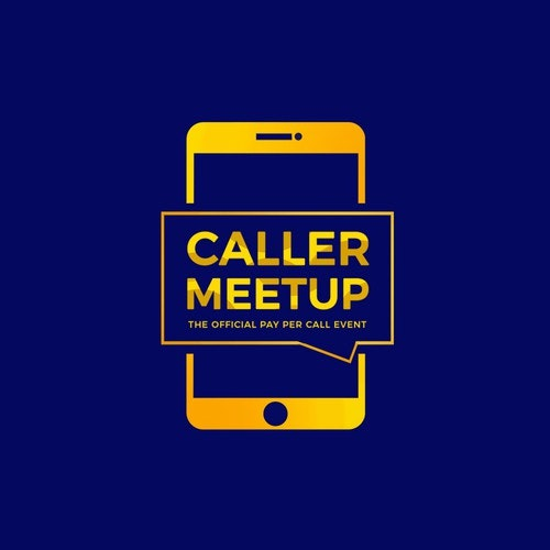 Smartphone logo with the title 'CALLER MEETUP'