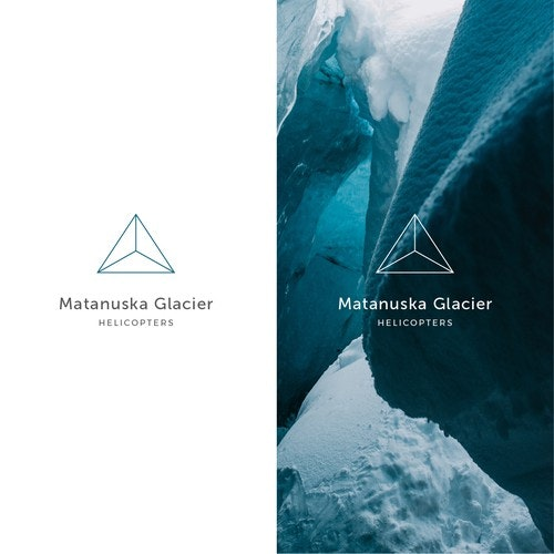 Helicopter logo with the title 'Matanuska Glacier Helicopters'