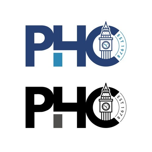 Birthday logo with the title 'PHC'