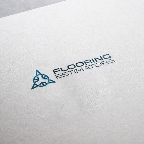 Conceptual logo with the title 'Flooring Estimators'
