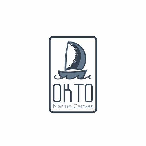 Marine logo with the title 'Create a brand identifying logo for OKTO Canvas'