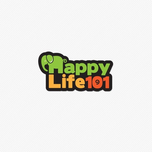Happiness logo with the title 'Playful logo for Happy Life'