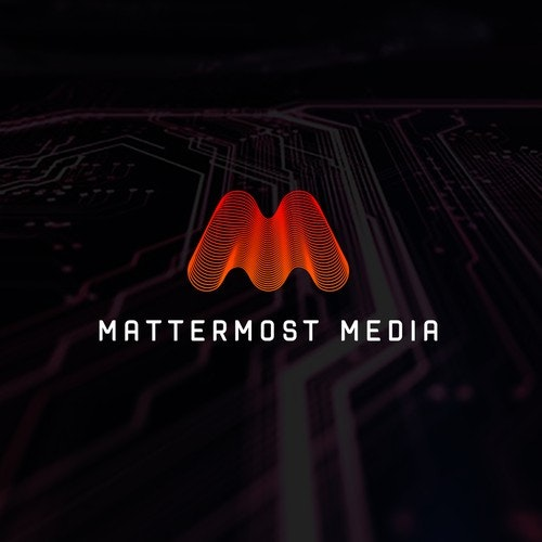 M logo with the title 'Modern media logo'