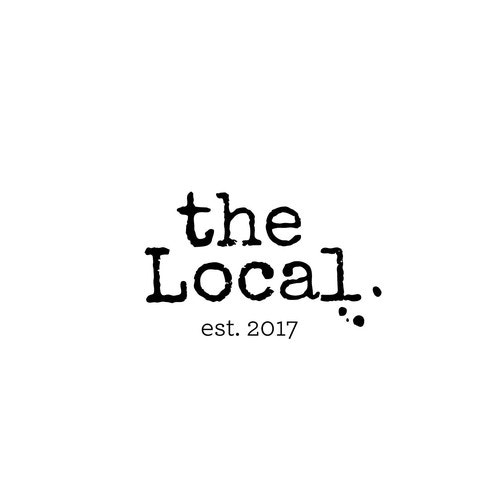 Typewriter logo with the title 'The Local - 2'