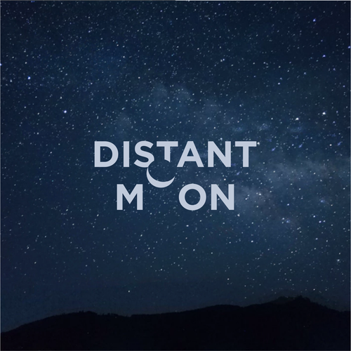 Video logo with the title 'Distant moon'