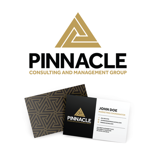Pyramid logo with the title 'Pinnacle Consulting and Management Group logo'