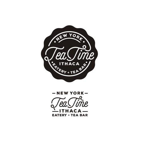 Eatery logo with the title 'Tea Time Ichita Logo'