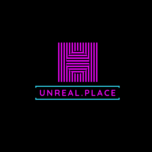 VR logo with the title 'Unreal.Place VR logo'