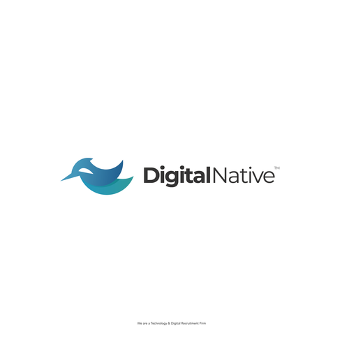 Recruitment logo with the title 'Modern Logo Design for Digital Native'