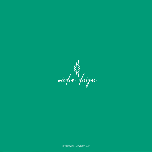 Calm logo with the title 'Sophisticated, calm logo for a business selling jewelry, streetwear and art'