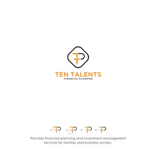 Orange and black logo with the title 'Ten Talents Financial Planning'