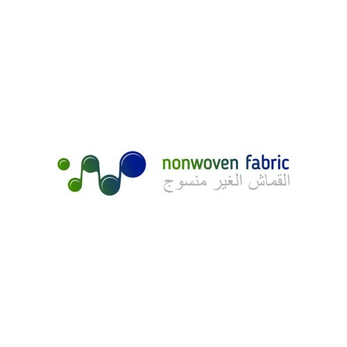 Leather logo with the title 'Non woven fabric'