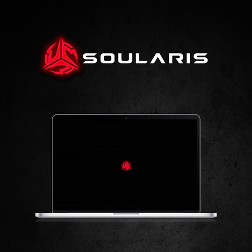 Video game logo with the title 'Soularis - slick logo for a new gaming brand'