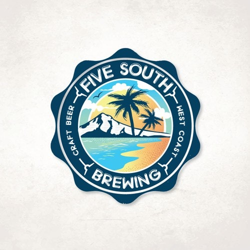 Beach logo with the title 'Five South'