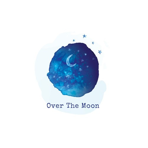 Childcare logo with the title 'over the moon'