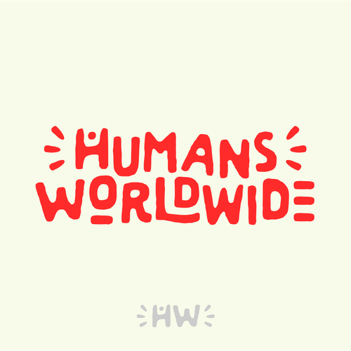 World logo with the title 'Logo for Humans Worldwide'