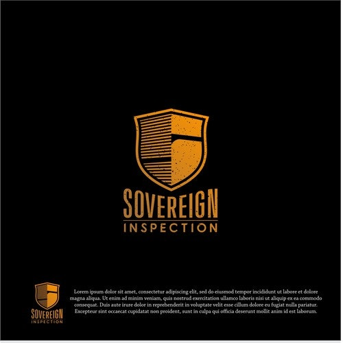 Pipe logo with the title 'logo concept for Sovereign inspection'