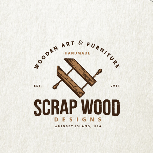 Wood logo with the title 'scrap wood designs'
