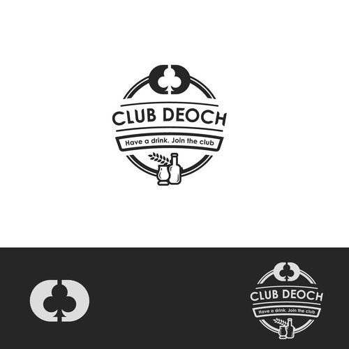 Club logo with the title 'Logo concept for Club Deoch'