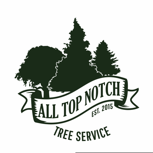 Landscaping logo with the title 'All Top Notch Tree Service logo suggestion'