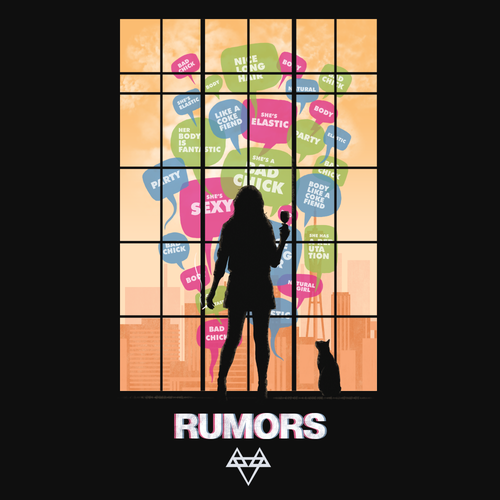 Band t-shirt with the title 'rumors'