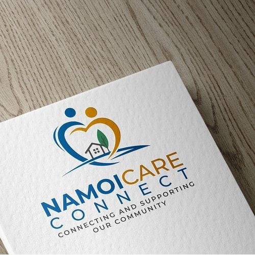 Support logo with the title 'Logo design for Namoi Care Connect'