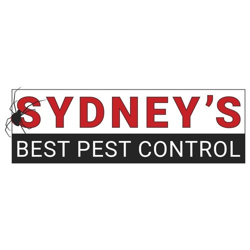 Spider logo with the title 'Sydney's Best Pest Control Logo'