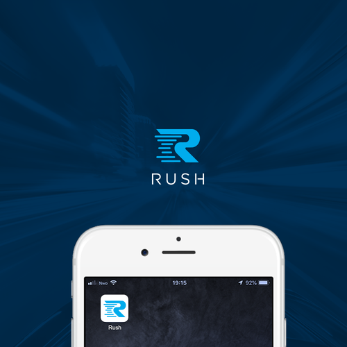 IPhone logo with the title 'Rush'