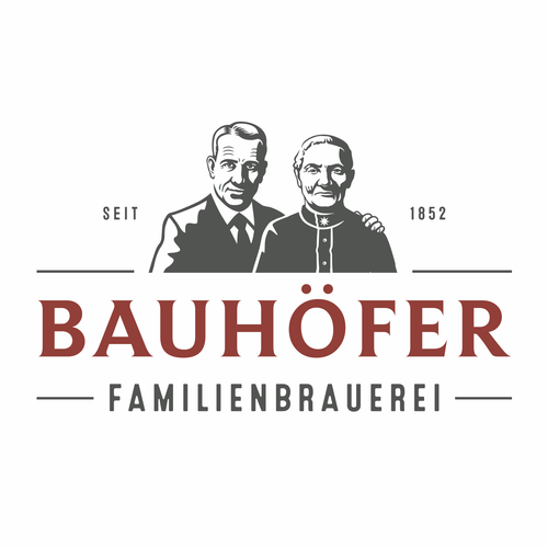 German logo with the title 'Bauhöfer Familienbrauerei'