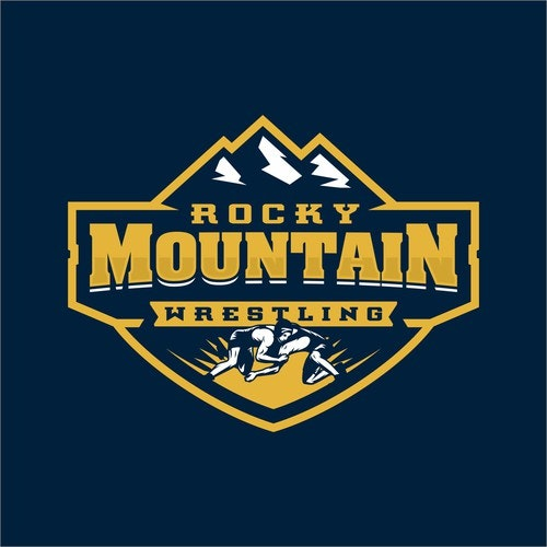 Wrestling logo with the title 'Rocky Mountain Wrestling logo'
