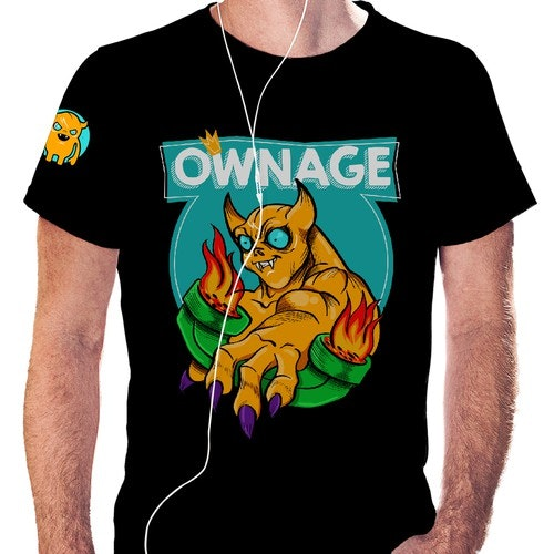 "Internet t-shirt with the title '""Ownage"" t-shirt contest'"