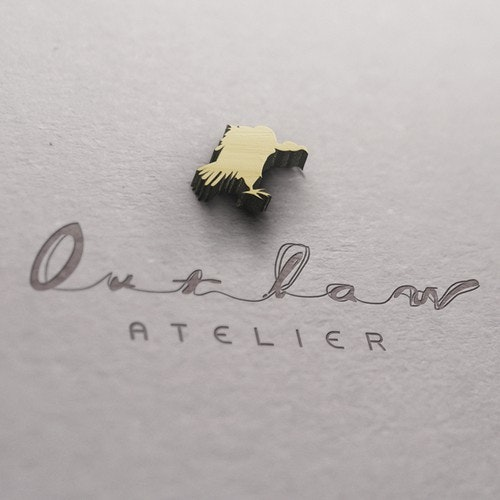 Edgy logo with the title 'Logodesign for Outlaw Atelier'