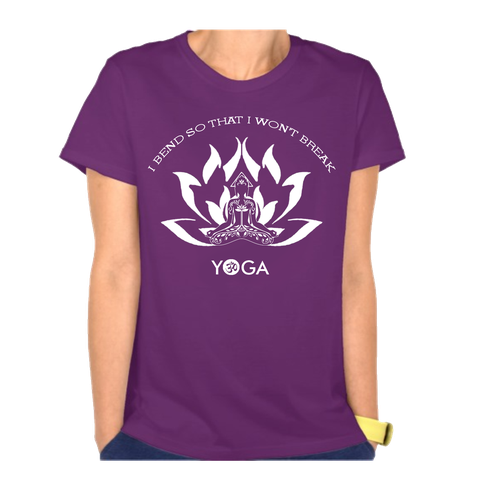 Yoga t-shirt with the title 'Yoga T-shirt'