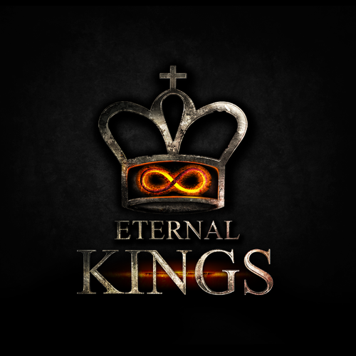 Medieval logo with the title 'Create a new Chess crown for the game Eternal Kings.'