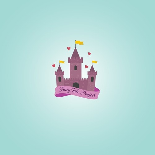 Princess logo with the title 'FairyTale Project- Logo design'