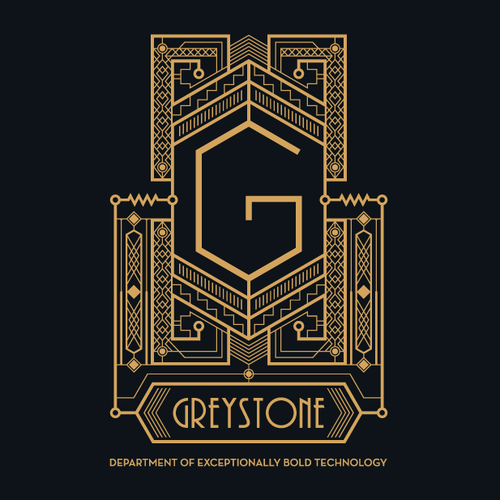 Art Deco logo with the title 'Art Deco logo for Greystone'