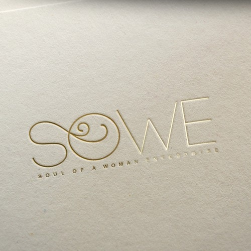 White logo with the title 'Sowe logo design'
