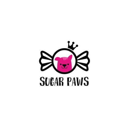 Cat logo with the title 'Cute pet spa/ pet shop logo'