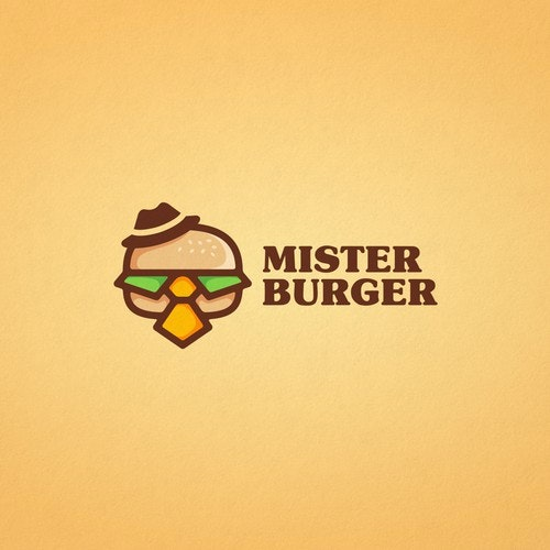 Burger logo with the title 'Creative logo for Mister Burger'