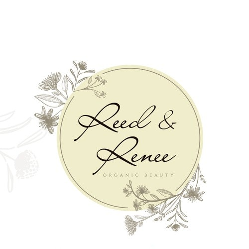 Botanical logo with the title 'Logo for homemade, organic soap and cosmetics'