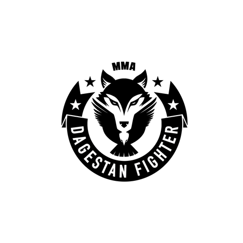 Martial arts logo with the title 'MMA Dagestan Fighter'