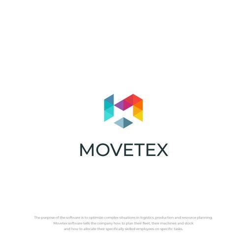 Moving logo with the title 'Movetex logo'