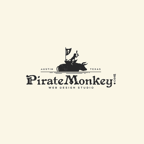 Pirate logo with the title 'Pirate Monkey'