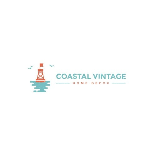 Coastal logo with the title 'Logo Design for Coastal Themed Home Decor'