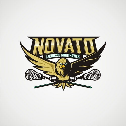 Hawk logo with the title 'novato nighthawk lacrosse'