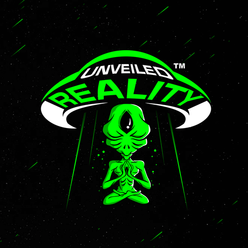 Mysterious logo with the title 'Unveiled Reality'