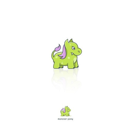 Angry logo with the title 'monster pony'