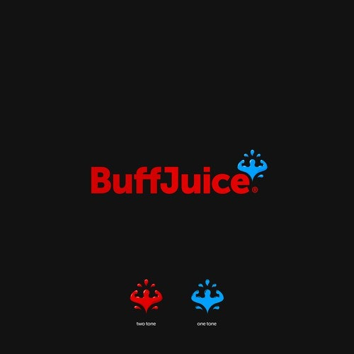 Muscle logo with the title 'BuffJuice'