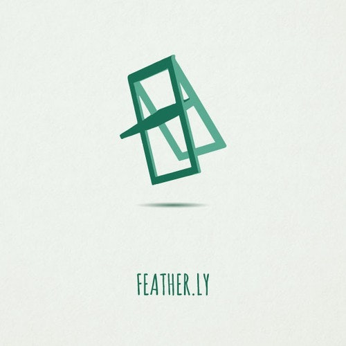 Bauhaus logo with the title 'Create a logo for feather.ly -- a lightweight furniture company.'
